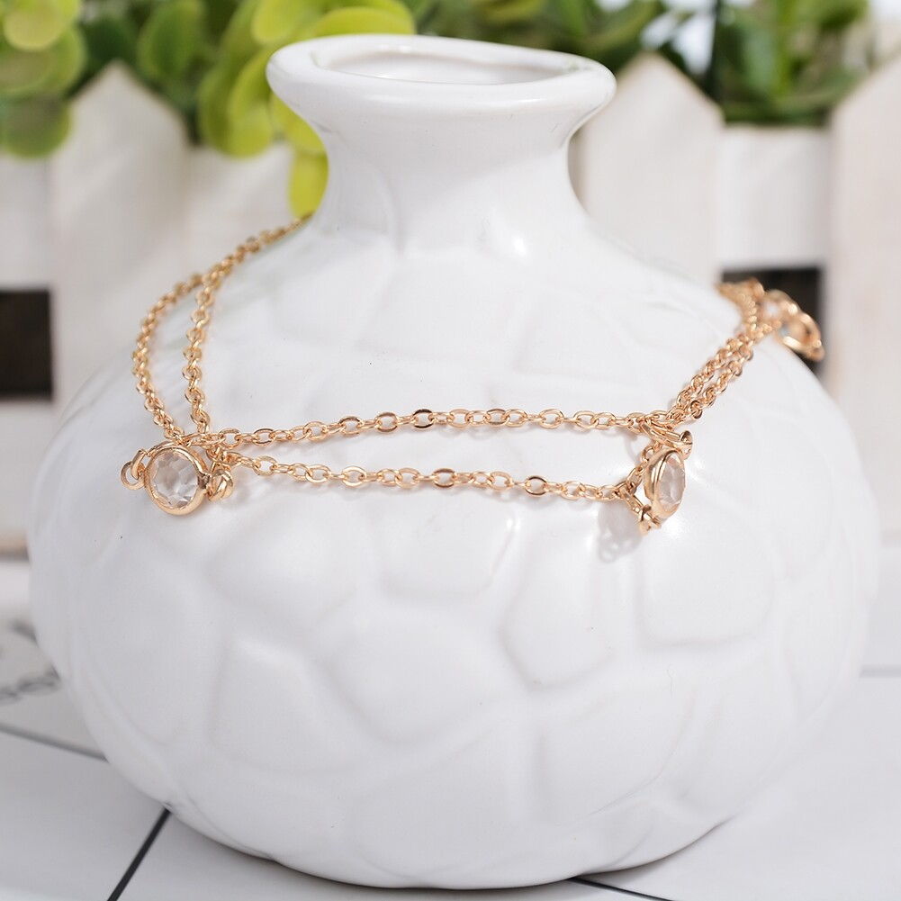 Vintage Fashion Crystal Anklets For Women Stainless Steel Shoe Boot Chain Bracelet Foot Jewelry BA0114 11