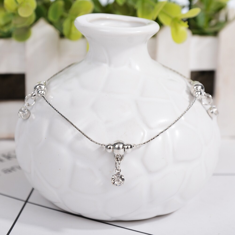 Vintage Fashion Crystal Anklets For Women Stainless Steel Shoe Boot Chain Bracelet Foot Jewelry BA0114 19