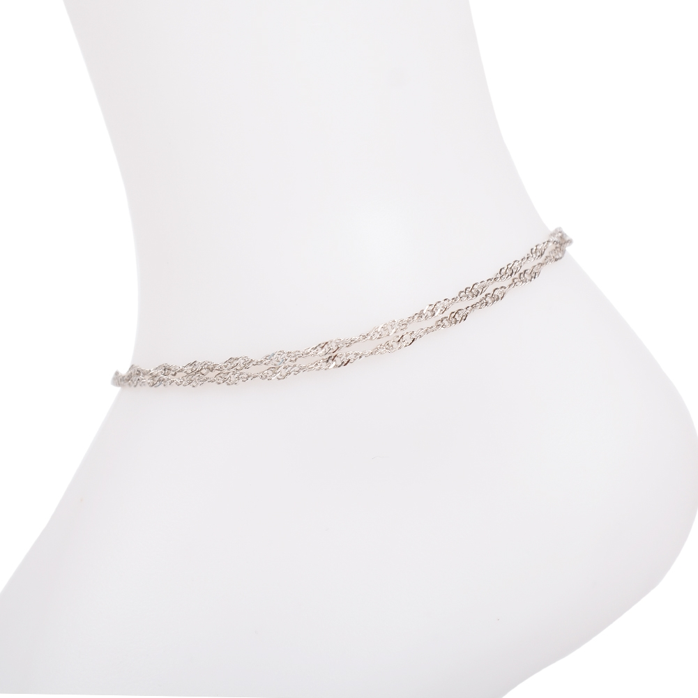 Vintage Fashion Crystal Anklets For Women Stainless Steel Shoe Boot Chain Bracelet Foot Jewelry BA0114 21