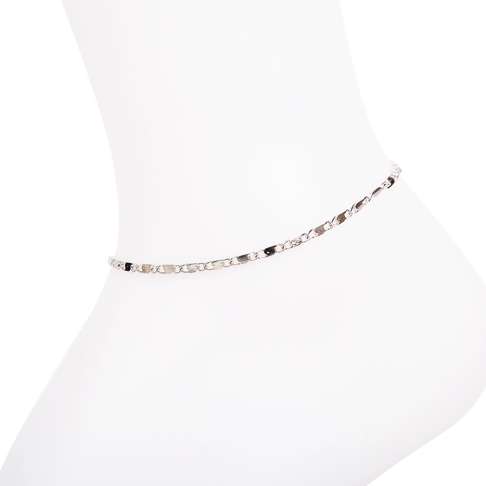 Vintage Fashion Crystal Anklets For Women Stainless Steel Shoe Boot Chain Bracelet Foot Jewelry BA0114 29