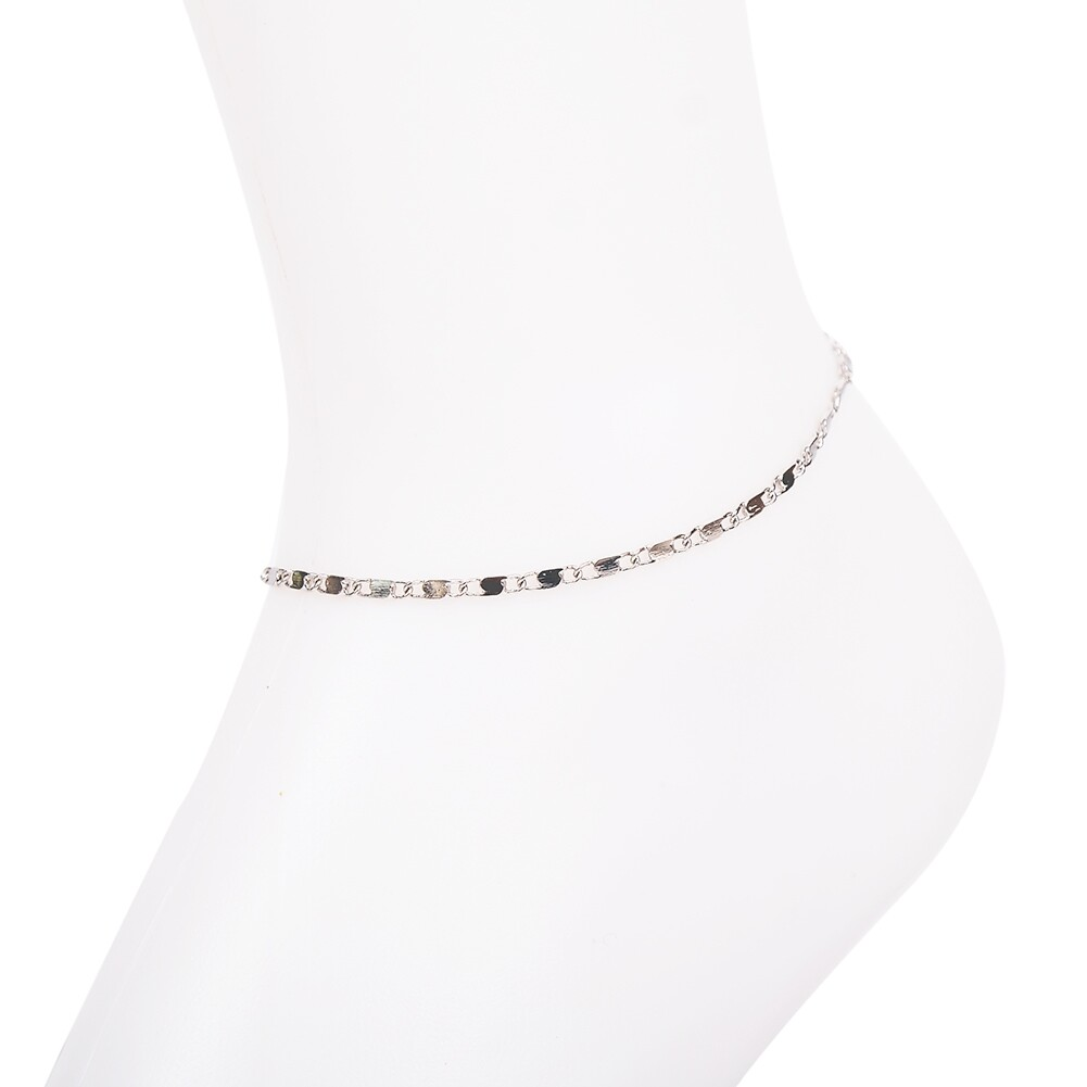 Vintage Fashion Crystal Anklets For Women Stainless Steel Shoe Boot Chain Bracelet Foot Jewelry BA0114 30