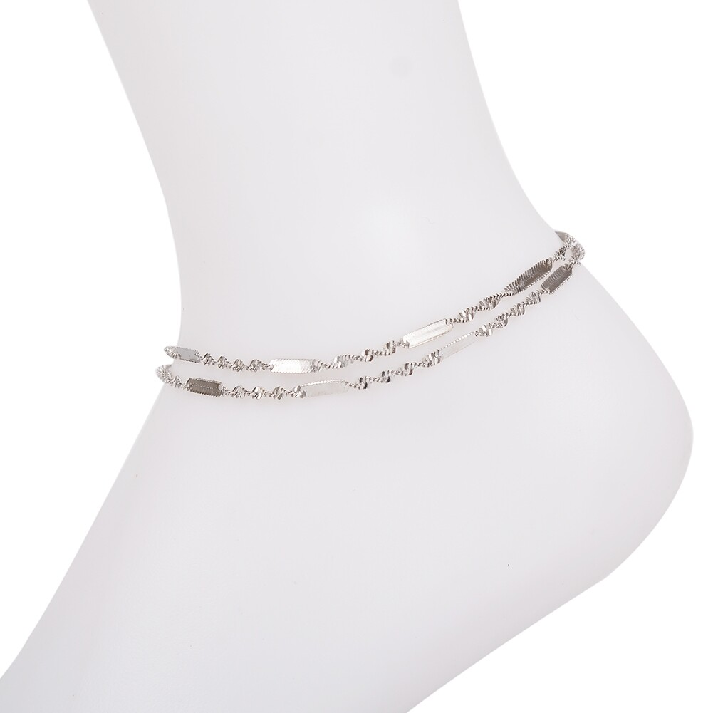 Vintage Fashion Crystal Anklets For Women Stainless Steel Shoe Boot Chain Bracelet Foot Jewelry BA0114 33