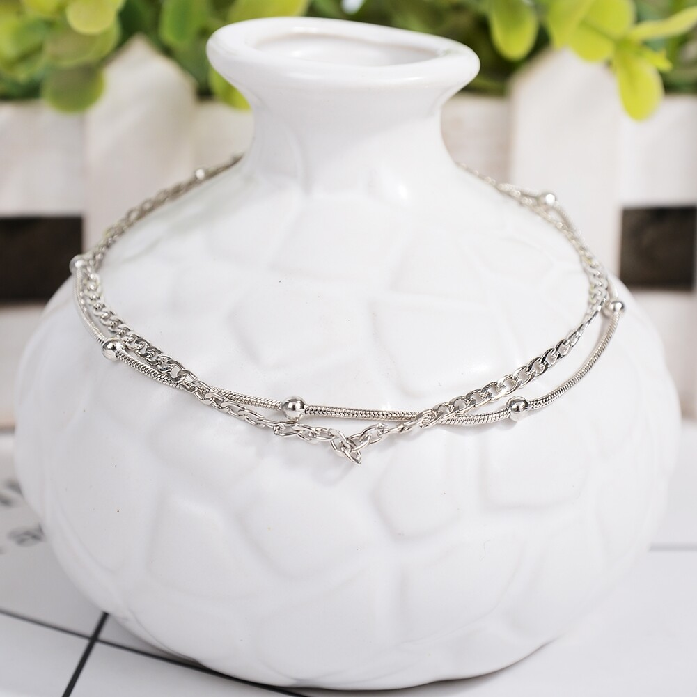 Vintage Fashion Crystal Anklets For Women Stainless Steel Shoe Boot Chain Bracelet Foot Jewelry BA0114 43