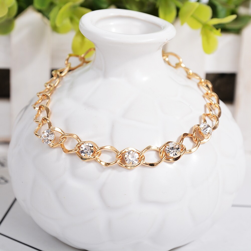 Vintage Fashion Crystal Anklets For Women Stainless Steel Shoe Boot Chain Bracelet Foot Jewelry BA0114 7