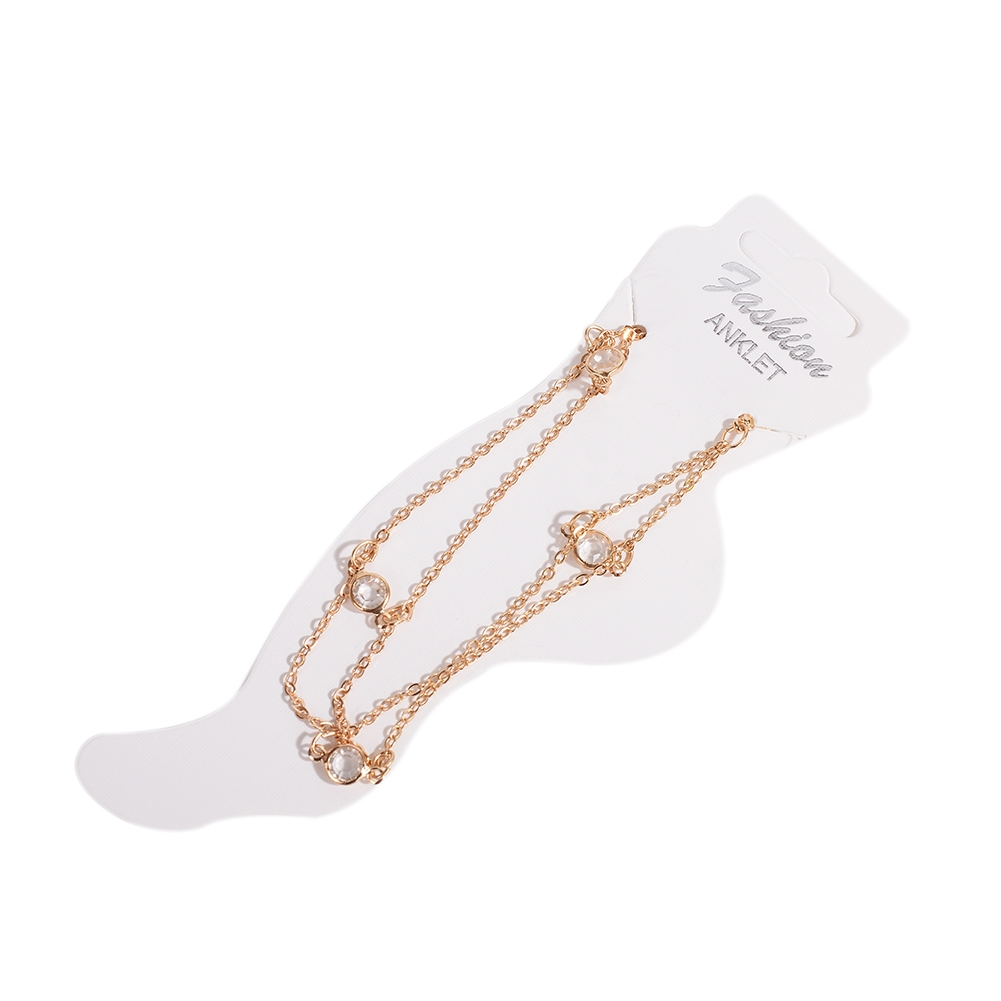 Vintage Fashion Crystal Anklets For Women Stainless Steel Shoe Boot Chain Bracelet Foot Jewelry BA0114 8