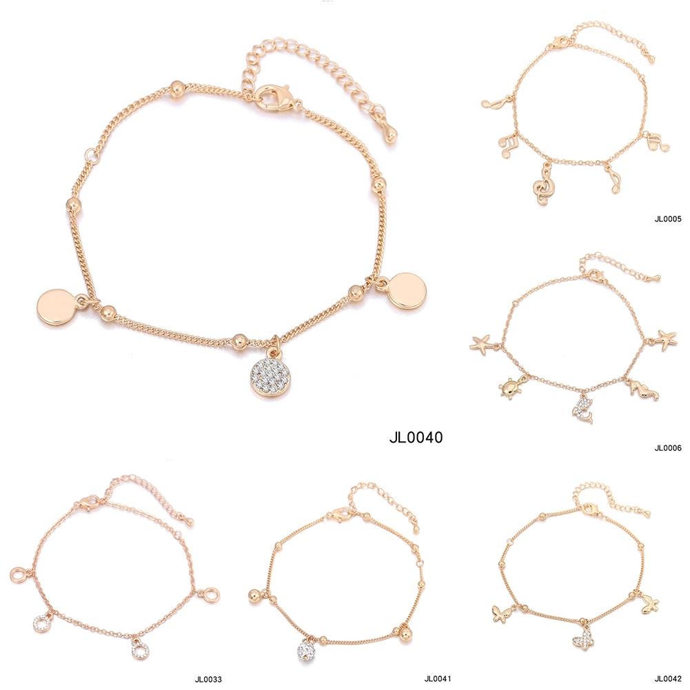 Women Foot Feet Bracelets Flower Rose Gold Ankle Chain Leg Jewelry Accessories BA0071 3