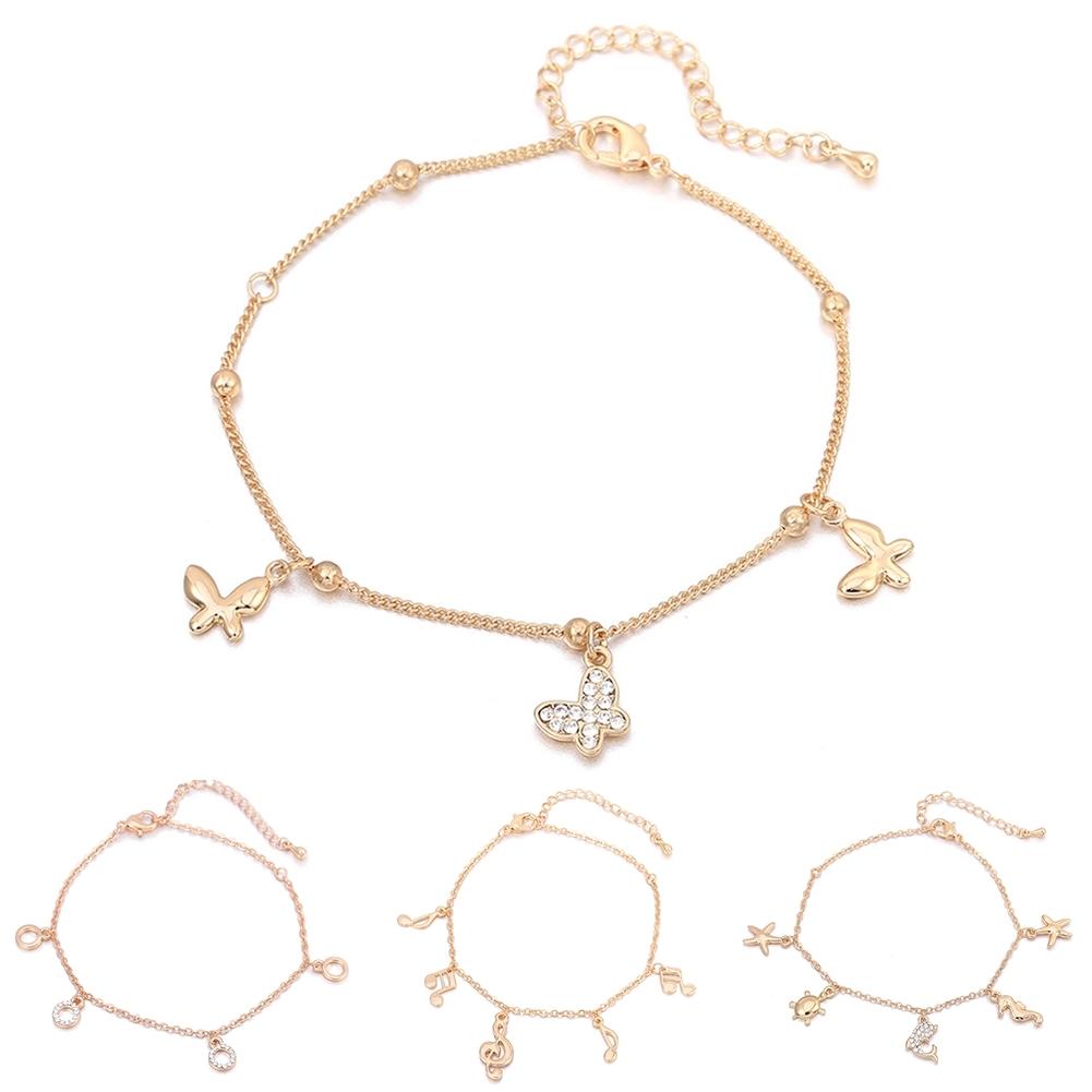 Women Foot Feet Bracelets Flower Rose Gold Ankle Chain Leg Jewelry Accessories BA0071 4