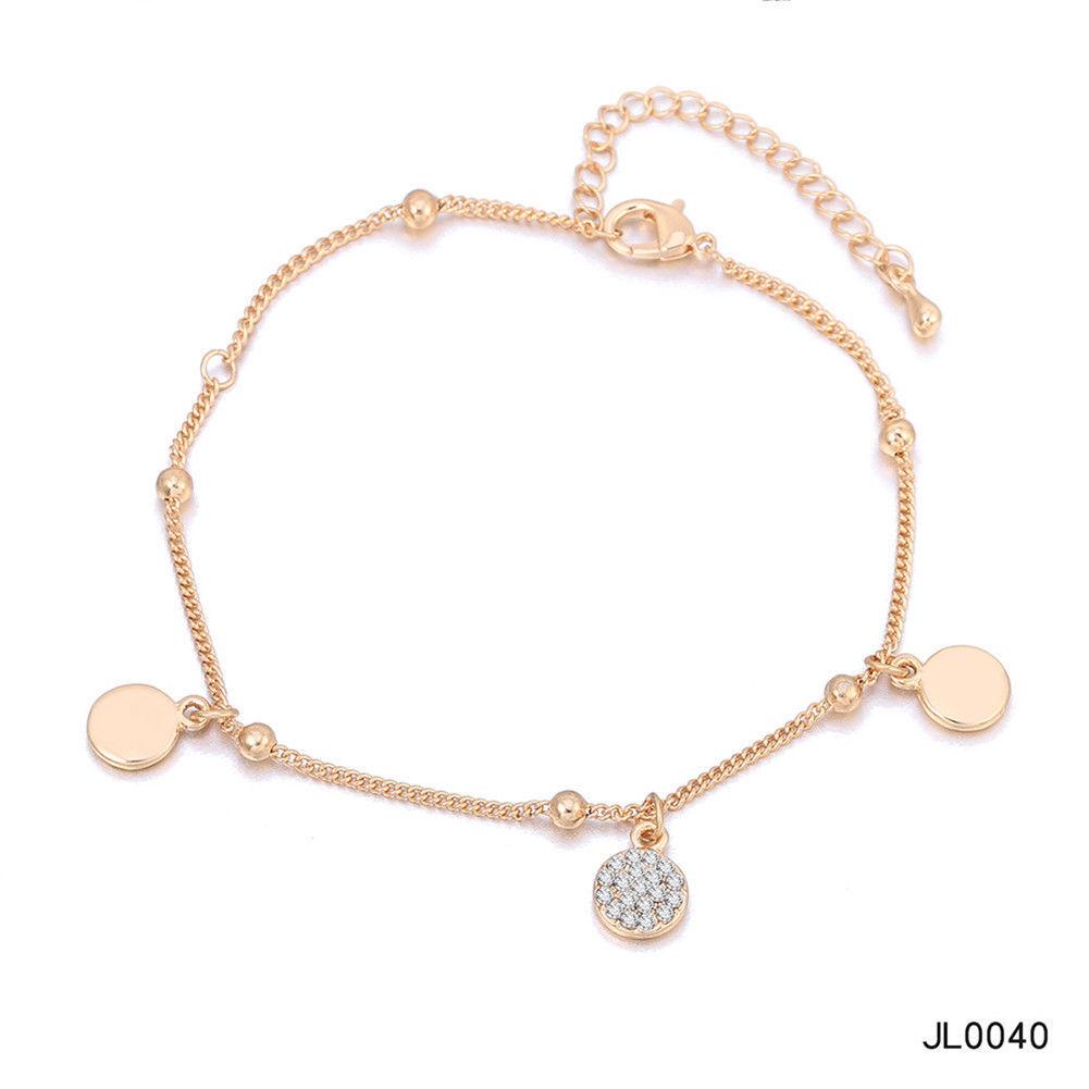 Women Foot Feet Bracelets Flower Rose Gold Ankle Chain Leg Jewelry Accessories BA0071 5