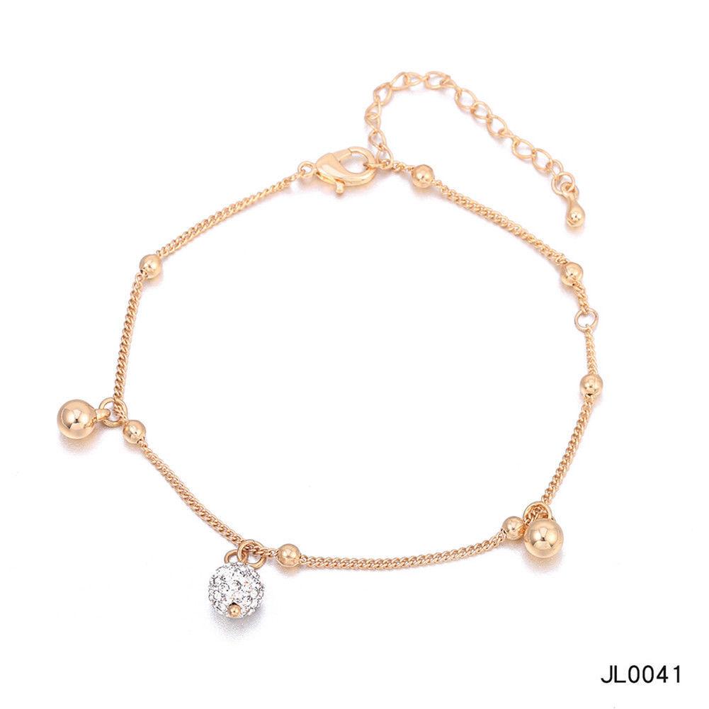 Women Foot Feet Bracelets Flower Rose Gold Ankle Chain Leg Jewelry Accessories BA0071 6