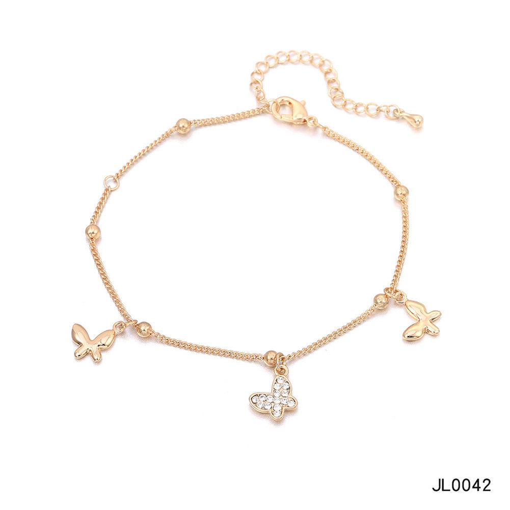 Women Foot Feet Bracelets Flower Rose Gold Ankle Chain Leg Jewelry Accessories BA0071 7