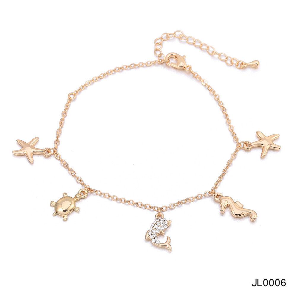 Women Foot Feet Bracelets Flower Rose Gold Ankle Chain Leg Jewelry Accessories BA0071 8