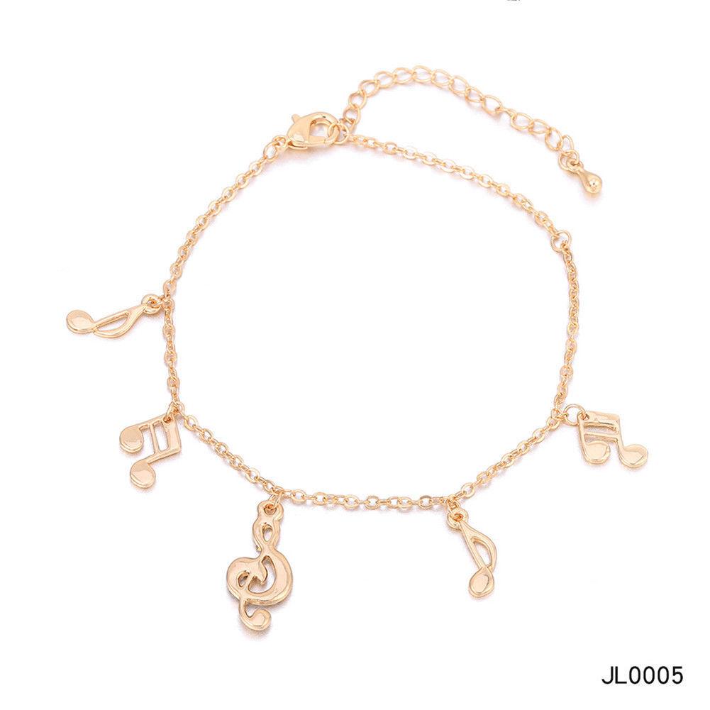 Women Foot Feet Bracelets Flower Rose Gold Ankle Chain Leg Jewelry Accessories BA0071 9