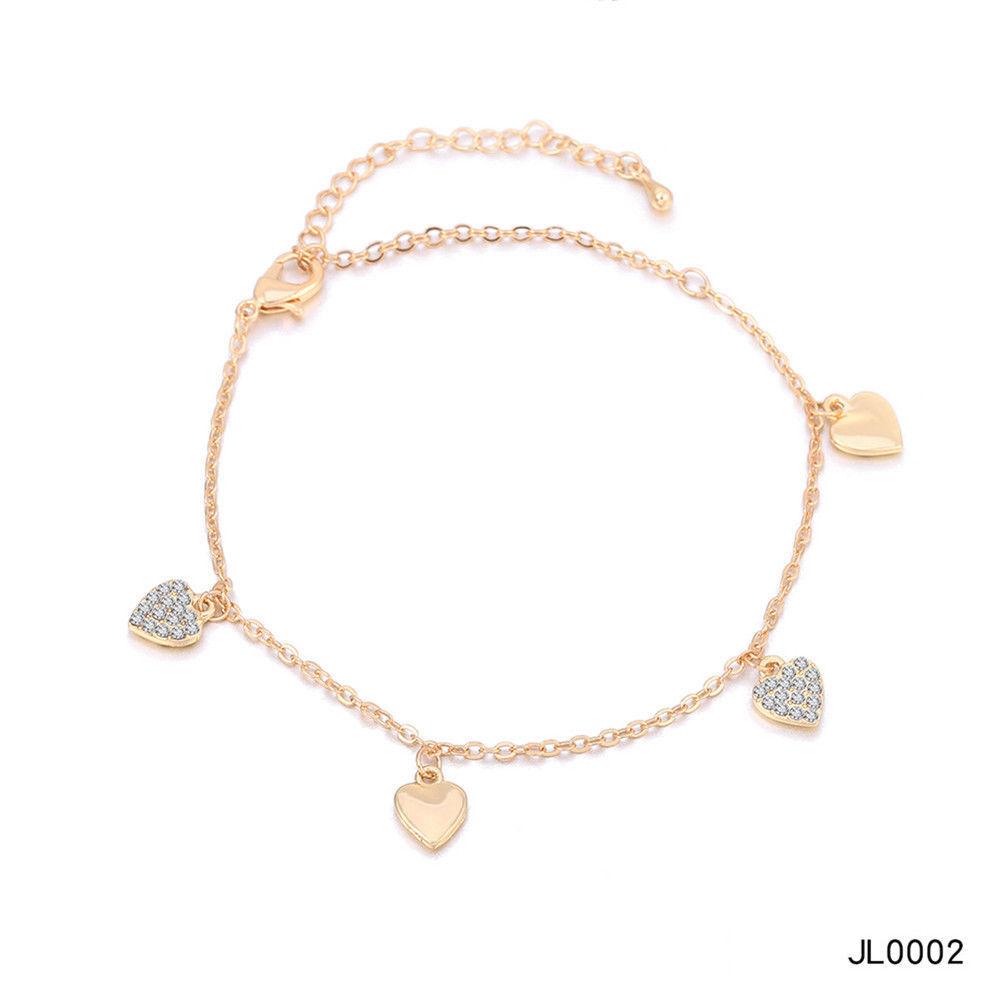 Women Foot Feet Bracelets Flower Rose Gold Ankle Chain Leg Jewelry Accessories BA0071 10