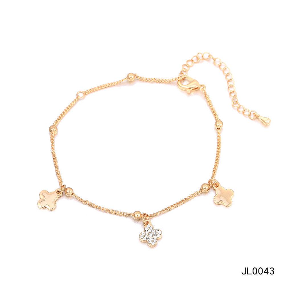 Women Foot Feet Bracelets Flower Rose Gold Ankle Chain Leg Jewelry Accessories BA0071 11