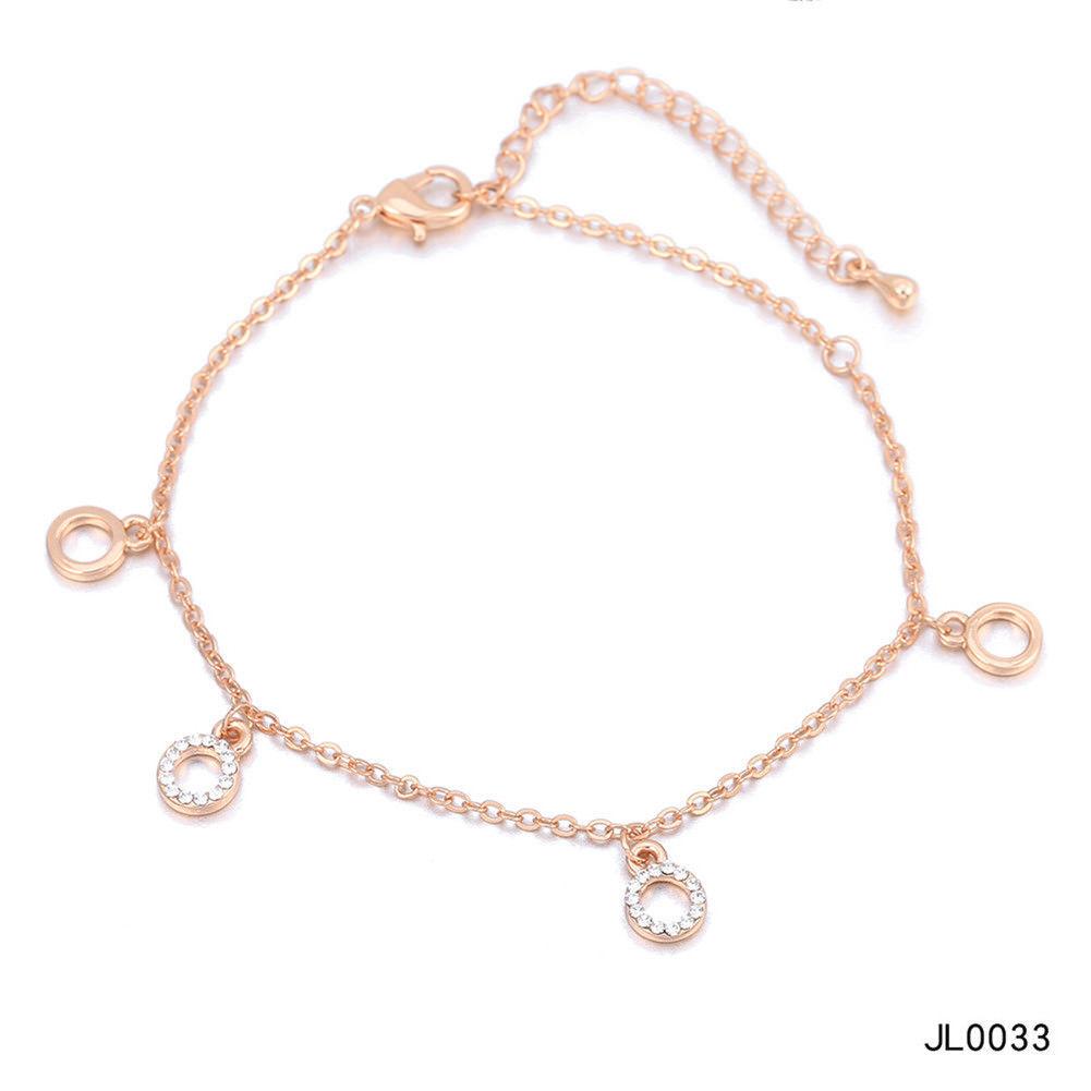 Women Foot Feet Bracelets Flower Rose Gold Ankle Chain Leg Jewelry Accessories BA0071 12