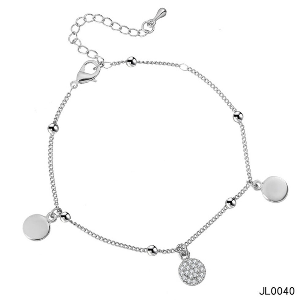 Women's musical notes anklet simple bells multi-layered stars love diamonds love footstool BA0072 5