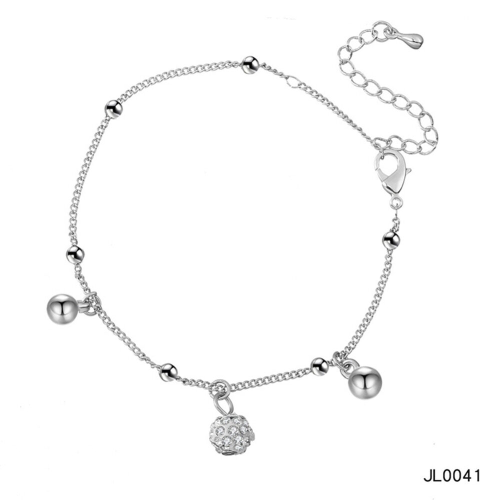 Women's musical notes anklet simple bells multi-layered stars love diamonds love footstool BA0072 6