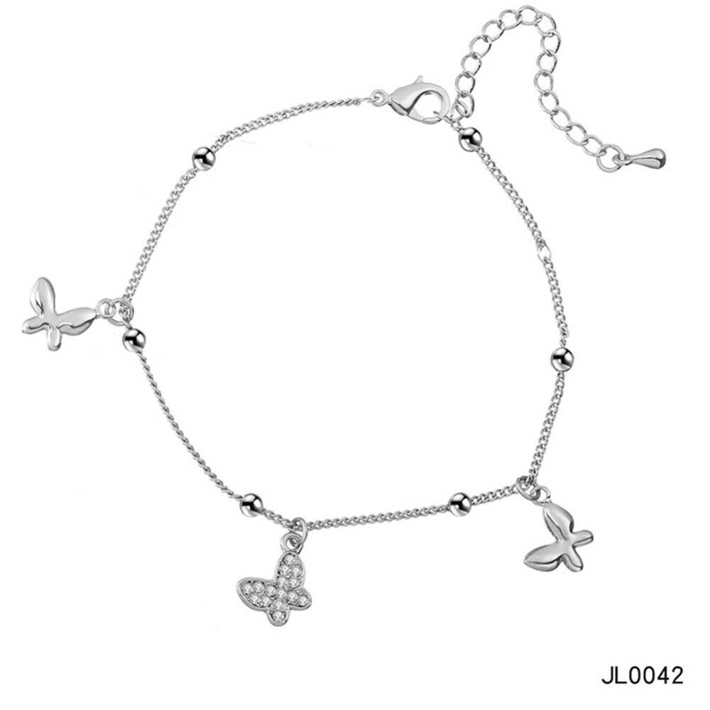 Women's musical notes anklet simple bells multi-layered stars love diamonds love footstool BA0072 7