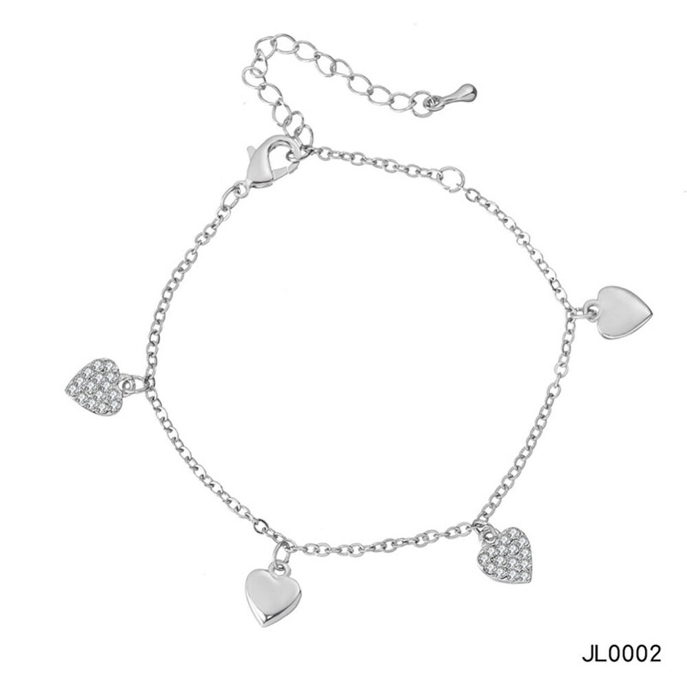 Women's musical notes anklet simple bells multi-layered stars love diamonds love footstool BA0072 10