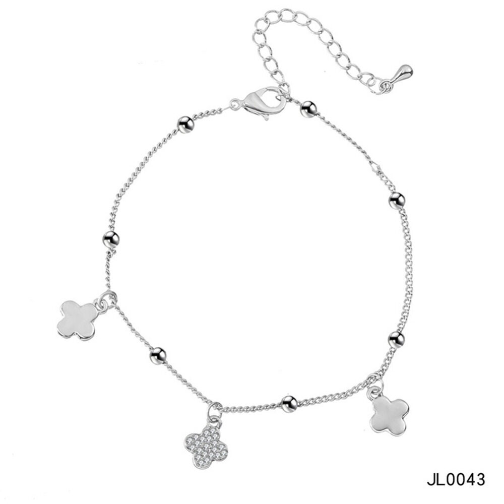 Women's musical notes anklet simple bells multi-layered stars love diamonds love footstool BA0072 11