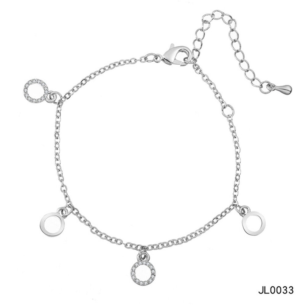 Women's musical notes anklet simple bells multi-layered stars love diamonds love footstool BA0072 12