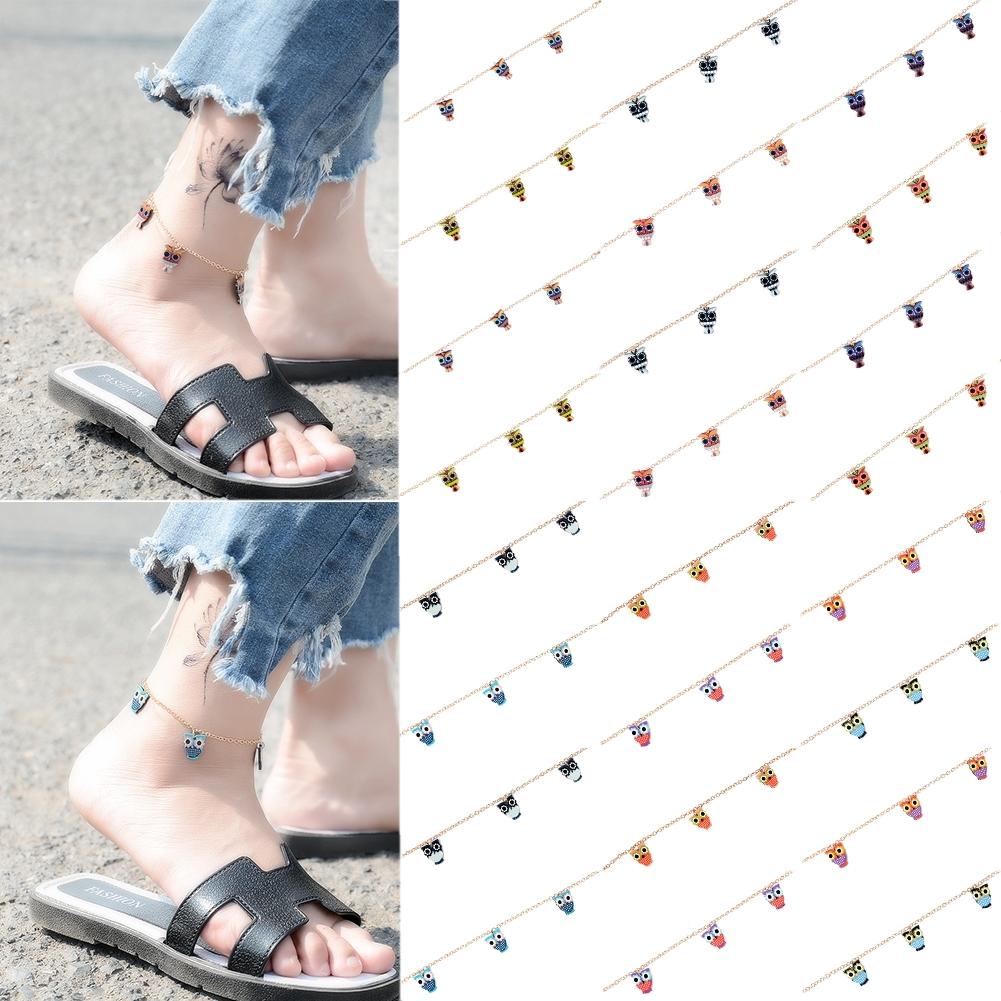 Fashion New Cartoon Owl Pendant Anklet Color Multicolor Anklet Color Random BA0131 37