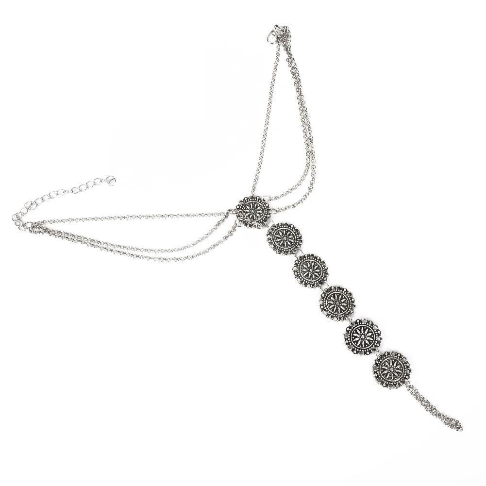 Fashion Women Flower Coin Anklet Foot Chain Ankle Bracelet Toe Ring Beach BA0126 0