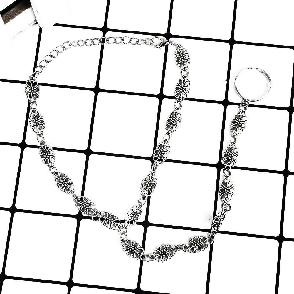 Fashion Women Flower Coin Anklet Foot Chain Ankle Bracelet Toe Ring Beach BA0126 11