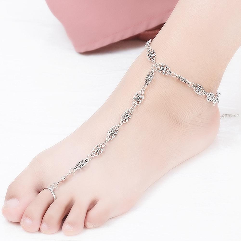 Fashion Women Flower Coin Anklet Foot Chain Ankle Bracelet Toe Ring Beach BA0126 14