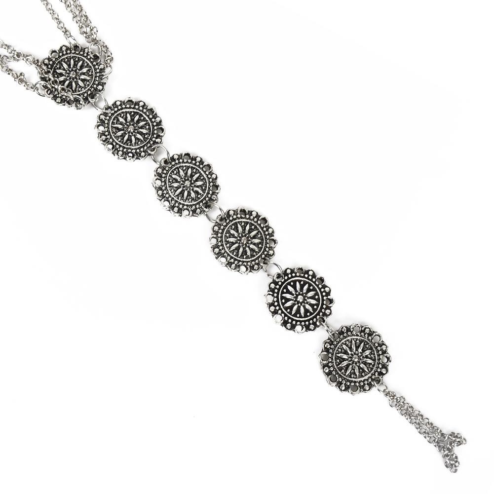 Fashion Women Flower Coin Anklet Foot Chain Ankle Bracelet Toe Ring Beach BA0126 2