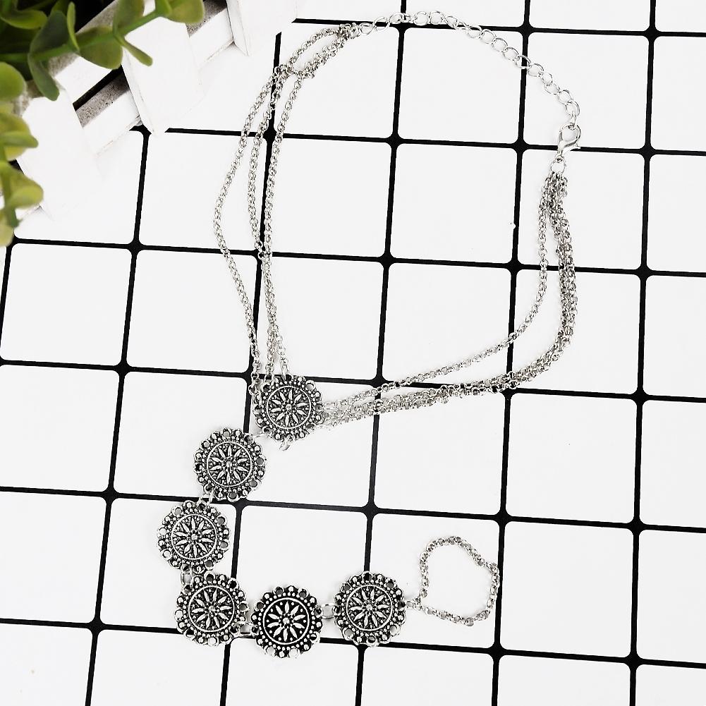 Fashion Women Flower Coin Anklet Foot Chain Ankle Bracelet Toe Ring Beach BA0126 3