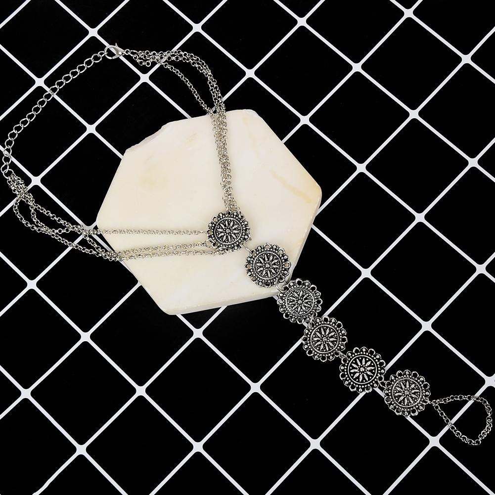 Fashion Women Flower Coin Anklet Foot Chain Ankle Bracelet Toe Ring Beach BA0126 4