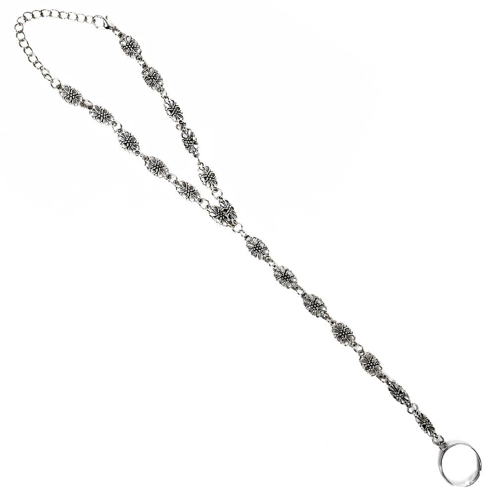 Fashion Women Flower Coin Anklet Foot Chain Ankle Bracelet Toe Ring Beach BA0126 8