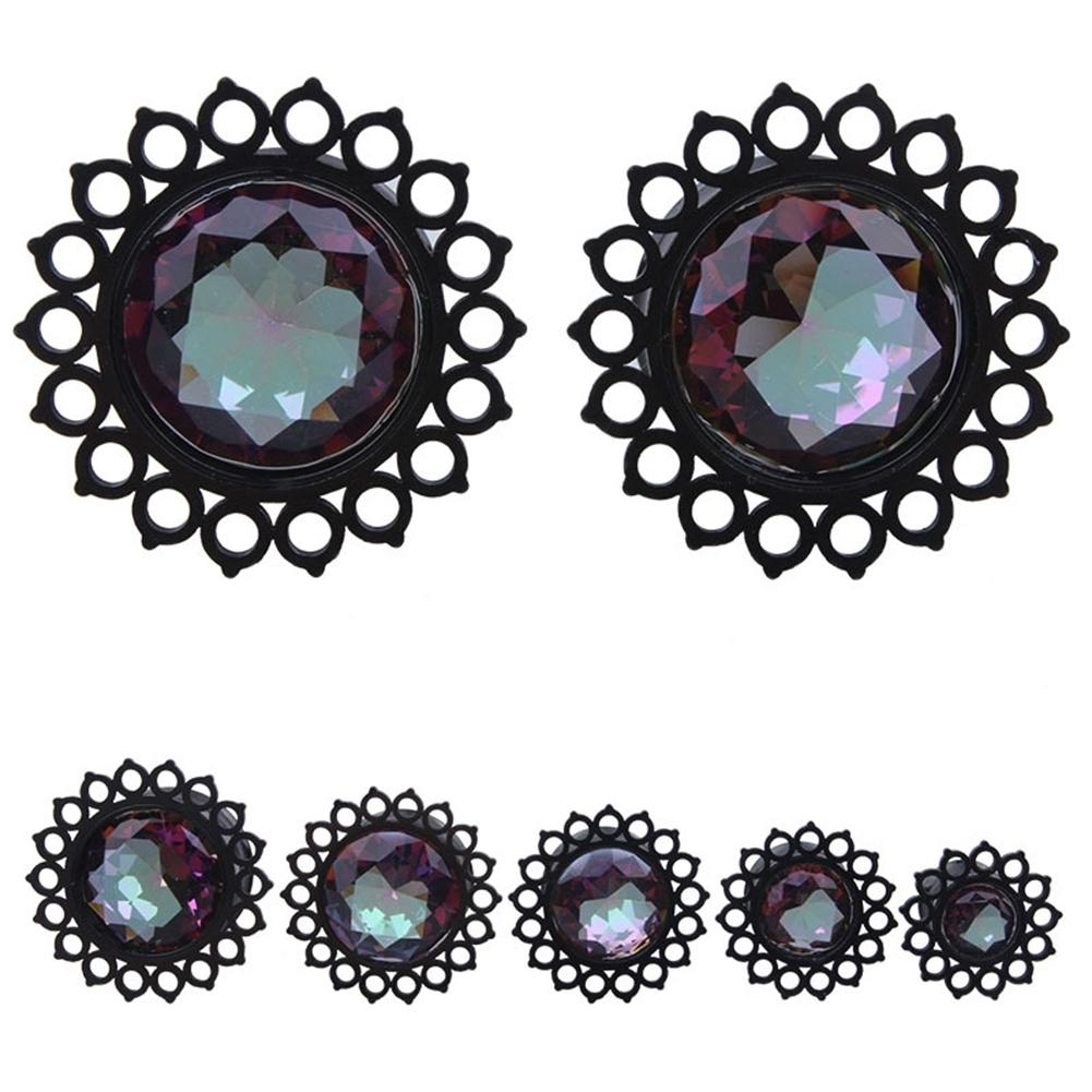 Vacuum plating black stainless steel jewel ear earrings puncture jewelry  BAQ0029 0
