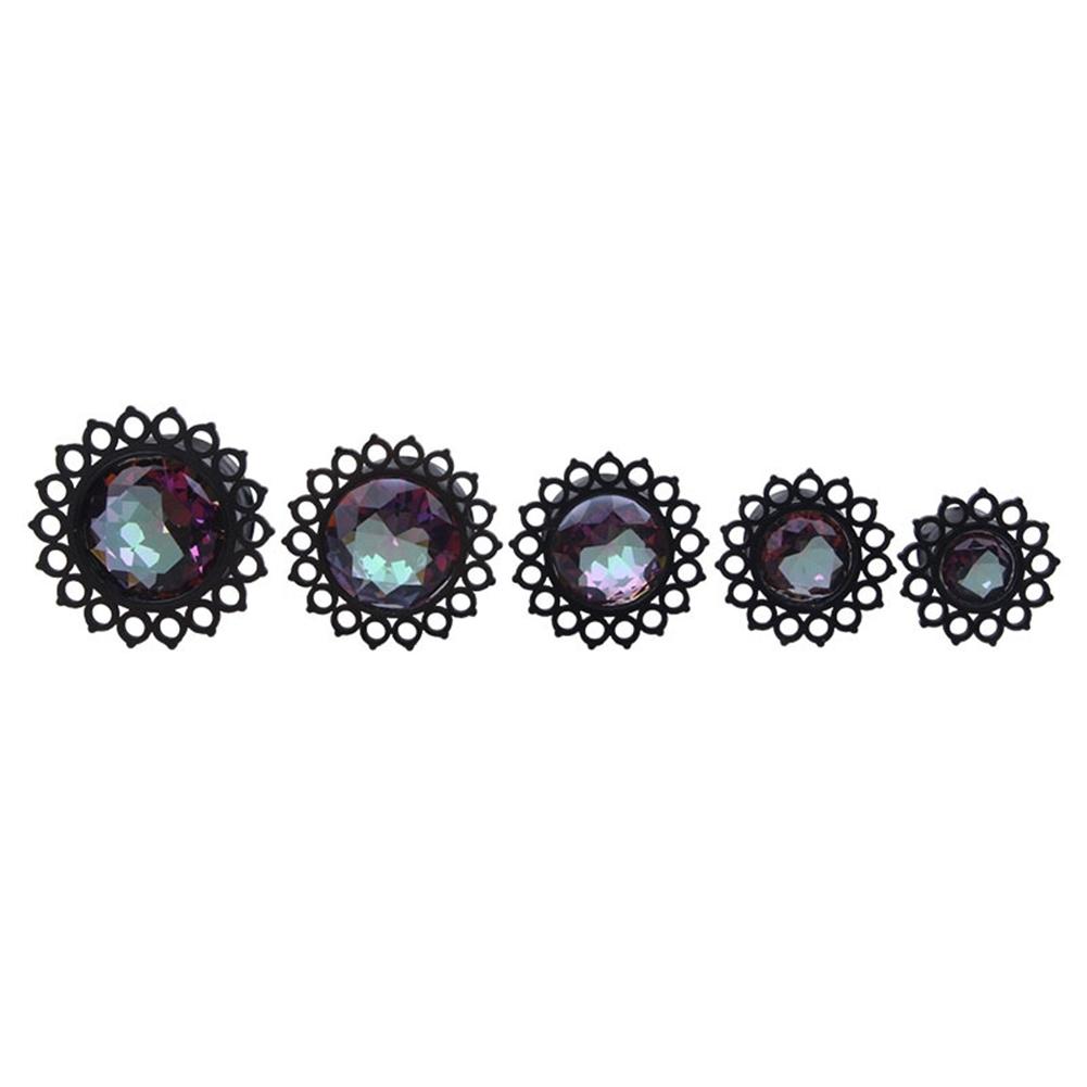 Vacuum plating black stainless steel jewel ear earrings puncture jewelry  BAQ0029 1