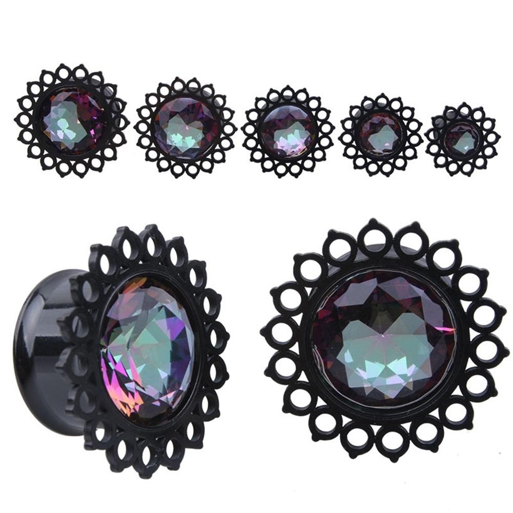Vacuum plating black stainless steel jewel ear earrings puncture jewelry  BAQ0029 6