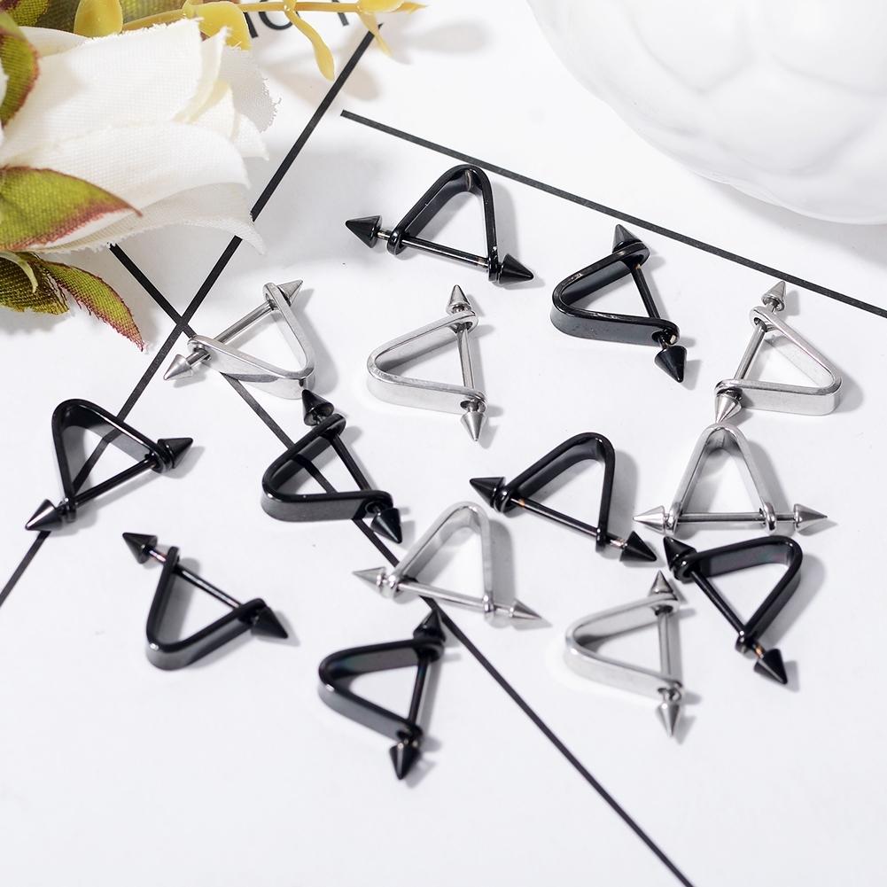 1pc Hipsters Triangle Piercing Earrings Prevent allergy Stainless steel 0S079E BAJ0024 0