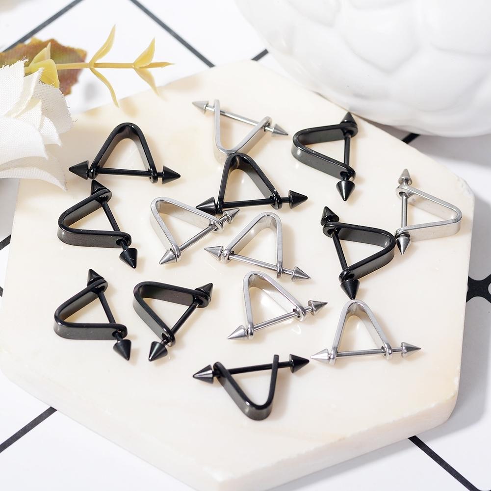 1pc Hipsters Triangle Piercing Earrings Prevent allergy Stainless steel 0S079E BAJ0024 1