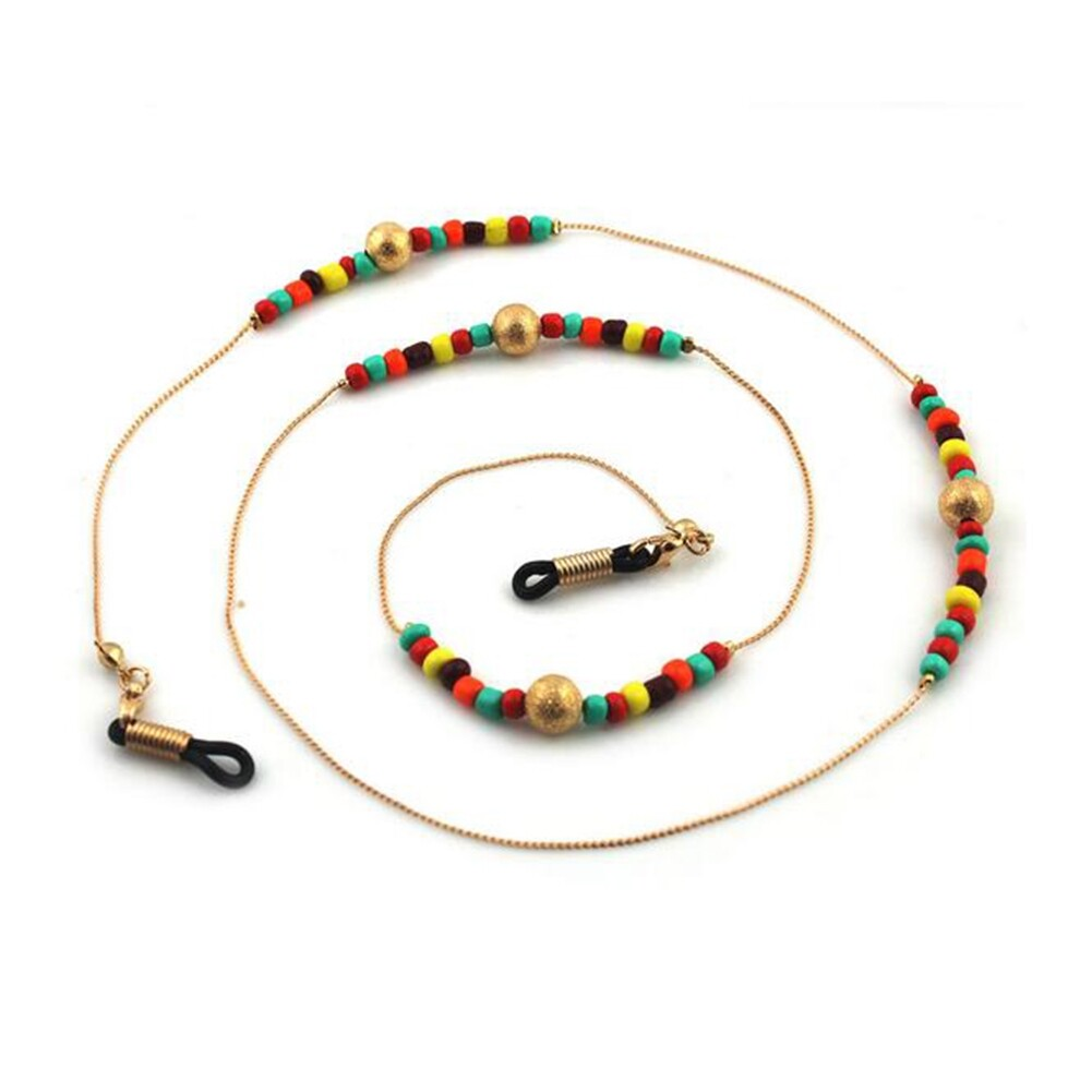 kind Eyeglass Glasses Strap Sunglasses Chain Beaded Cord Holder Neck Lanyard JWP0014 2