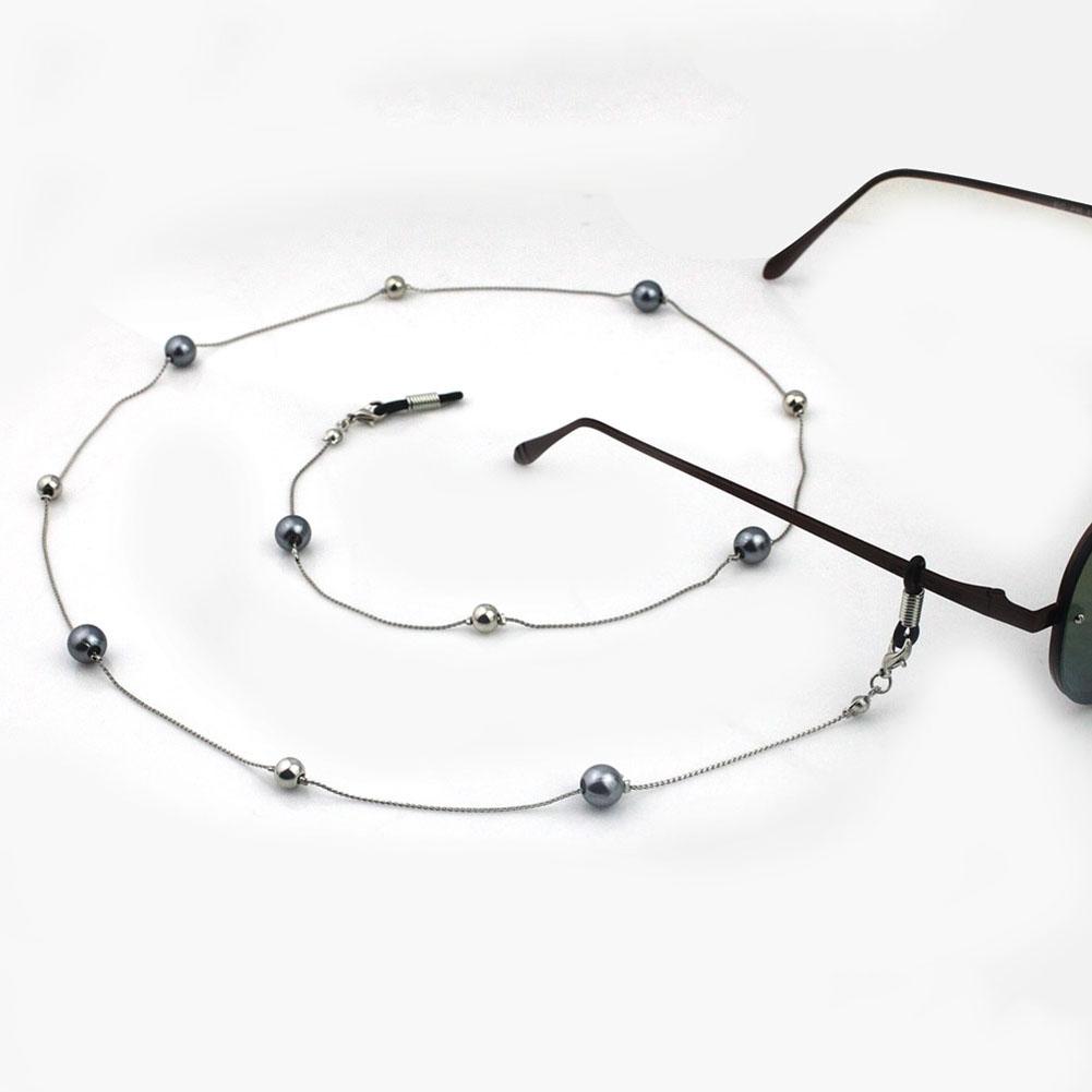 Fashion White Imitation Pearl Design Glasses Chain Eyewear Cord Reading Glass Neck Strap Eyeglass Holder Accessories JWP0006 1