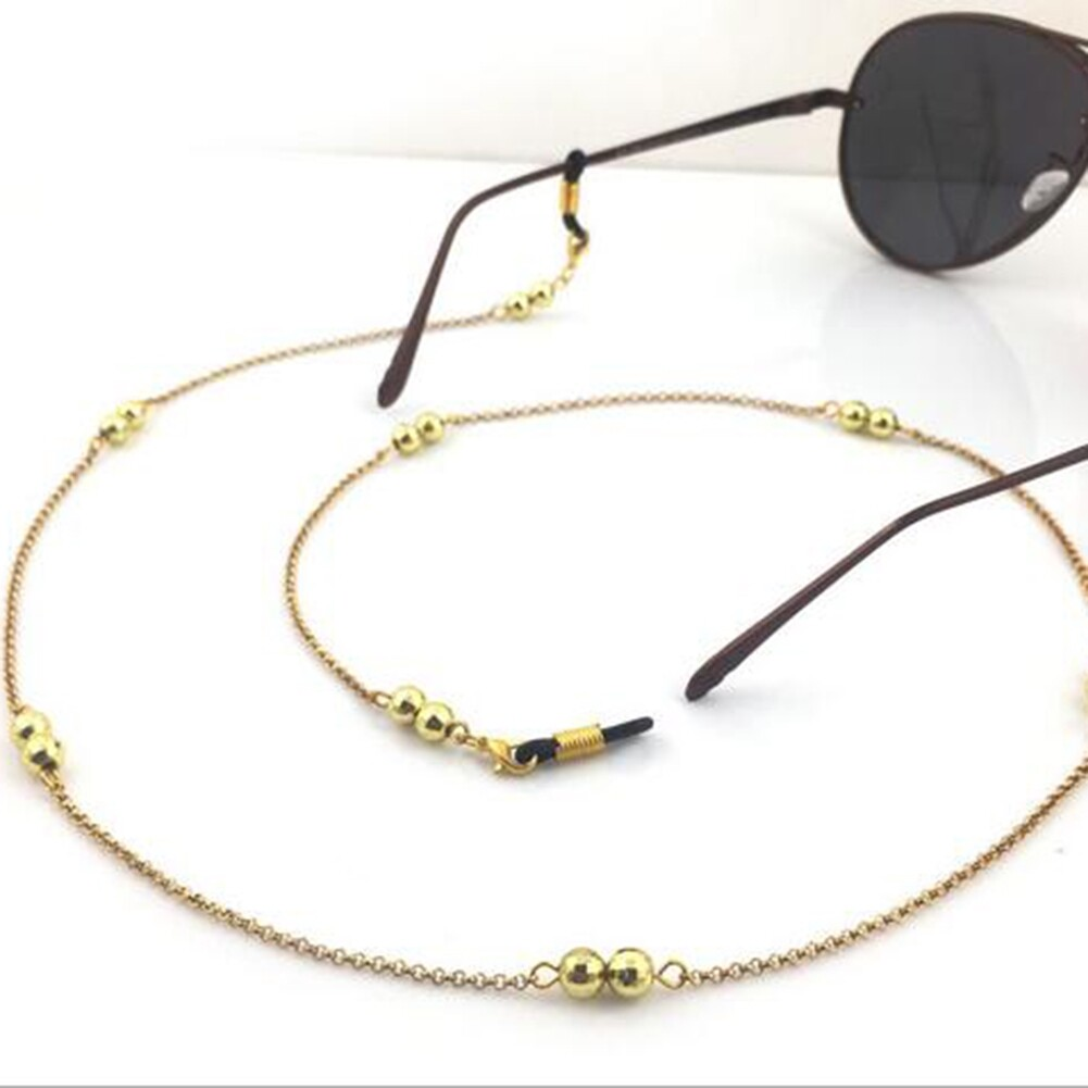 IMIXLOT Gold/Silver Color Casual Beaded Eyewear Sunglasses Neck Strap Rope Reading Glasses Chain Cord Holder JWP0013 3