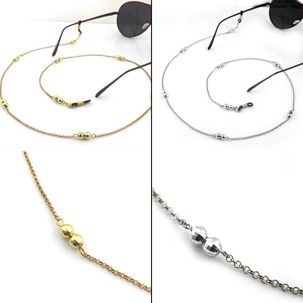 IMIXLOT Gold/Silver Color Casual Beaded Eyewear Sunglasses Neck Strap Rope Reading Glasses Chain Cord Holder JWP0013 5