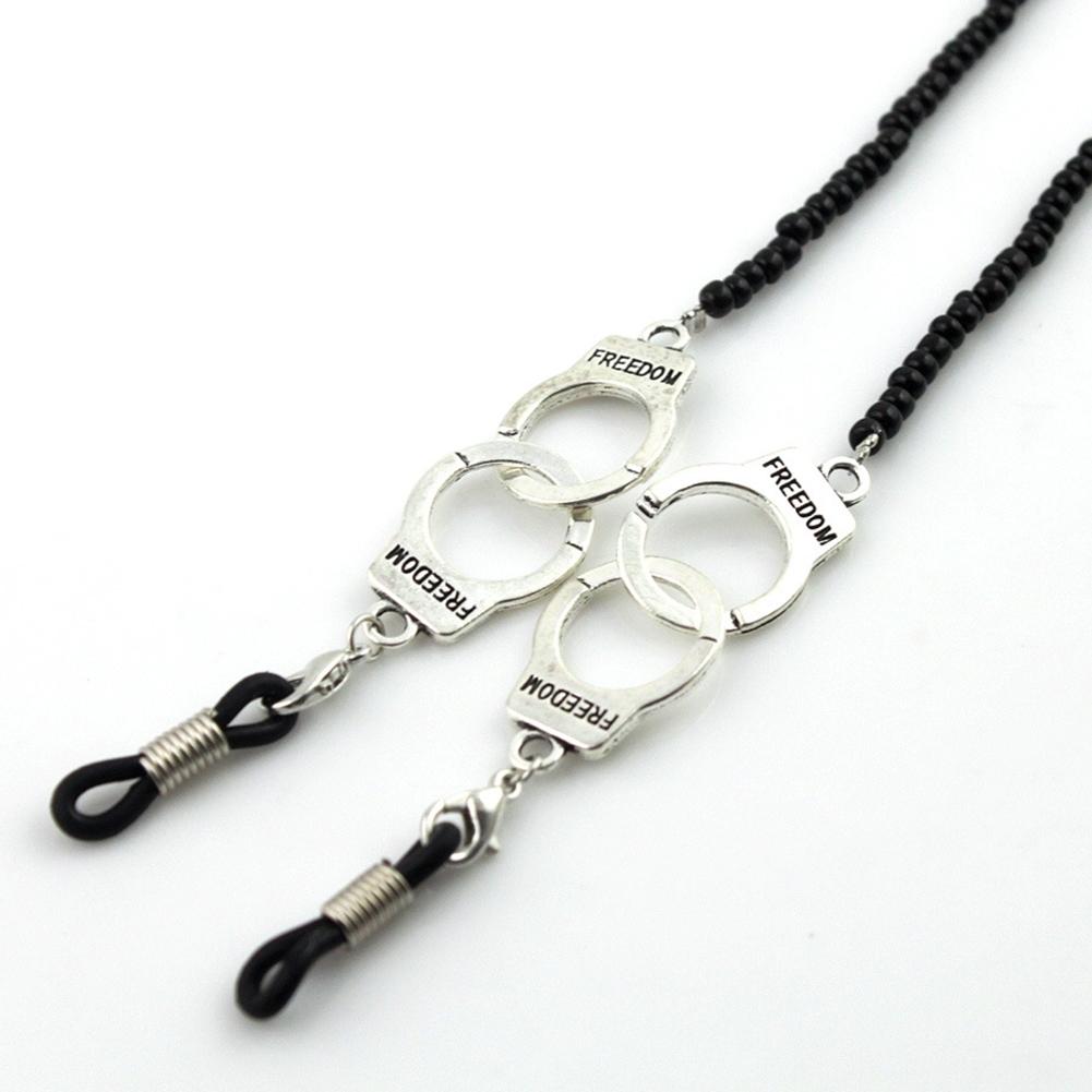 Imixlot Gothic Style Skull Head Design Black Bead Glasses Chain Men's Eyewear Cord Reading Glass Neck Strap YJC0142 1