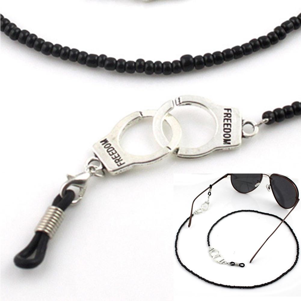 Imixlot Gothic Style Skull Head Design Black Bead Glasses Chain Men's Eyewear Cord Reading Glass Neck Strap YJC0142 5