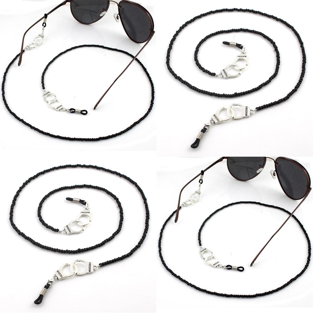 Imixlot Gothic Style Skull Head Design Black Bead Glasses Chain Men's Eyewear Cord Reading Glass Neck Strap YJC0142 6