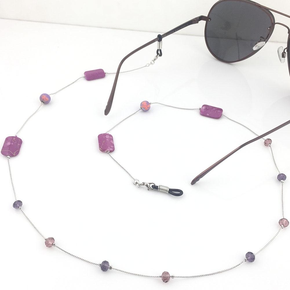 IMIXLOT High Quality Amethyst Eyeglass Eyewears Sunglasses Reading Glasses Chain Cord Holder Neck Strap Rope JWP0002 2