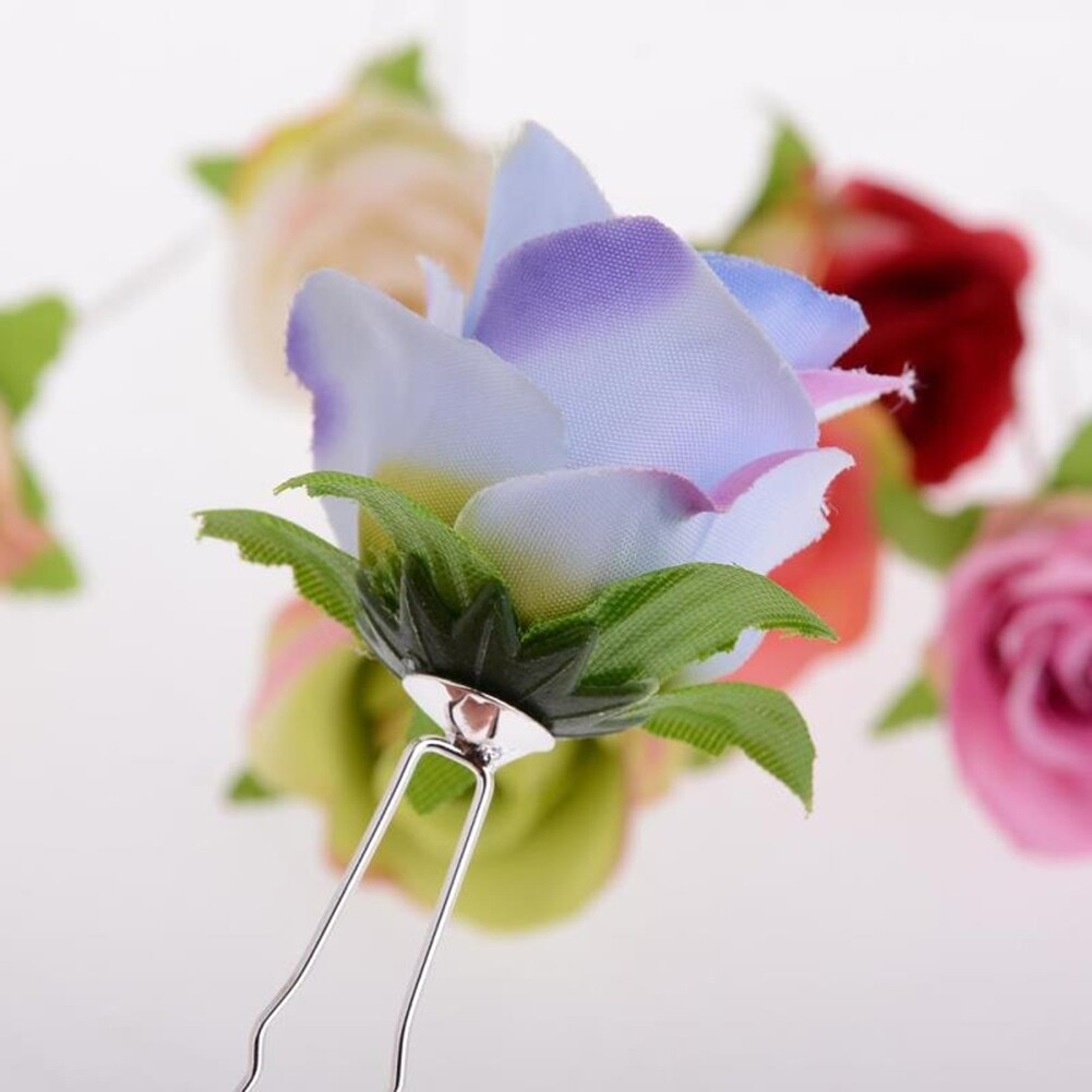Small Rose Flower Hair Pins Wedding Bridal Flowers Accessory Bridesmaids GE05030@ 3