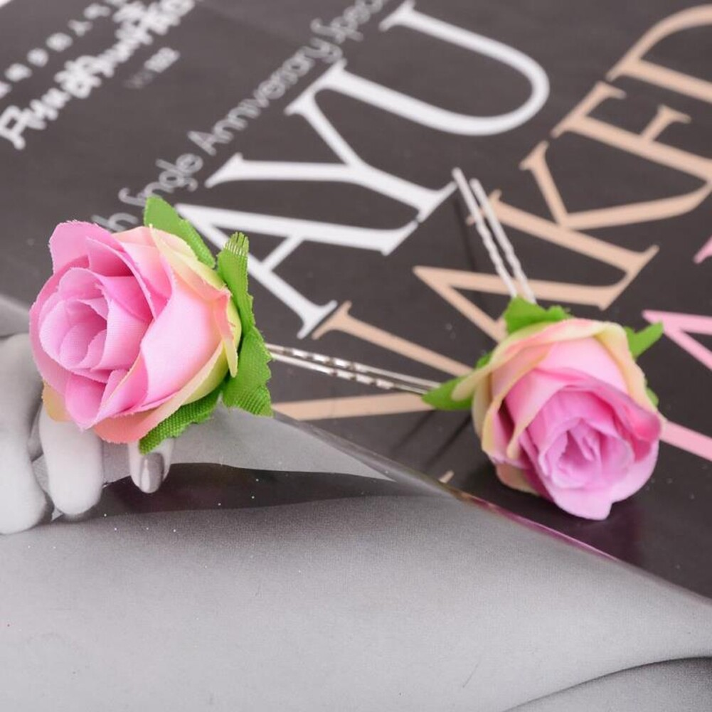 Small Rose Flower Hair Pins Wedding Bridal Flowers Accessory Bridesmaids GE05030@ 8