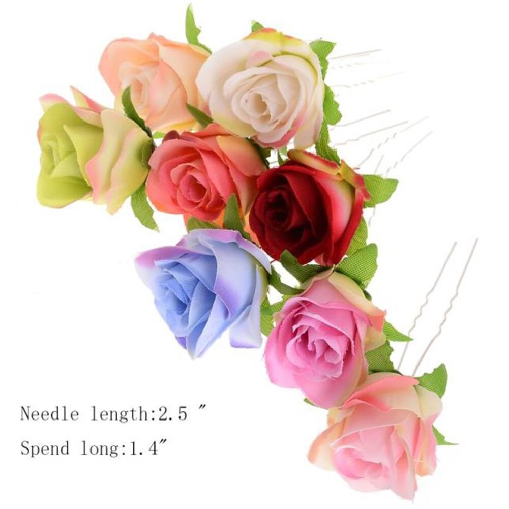 Small Rose Flower Hair Pins Wedding Bridal Flowers Accessory Bridesmaids GE05030@ 0