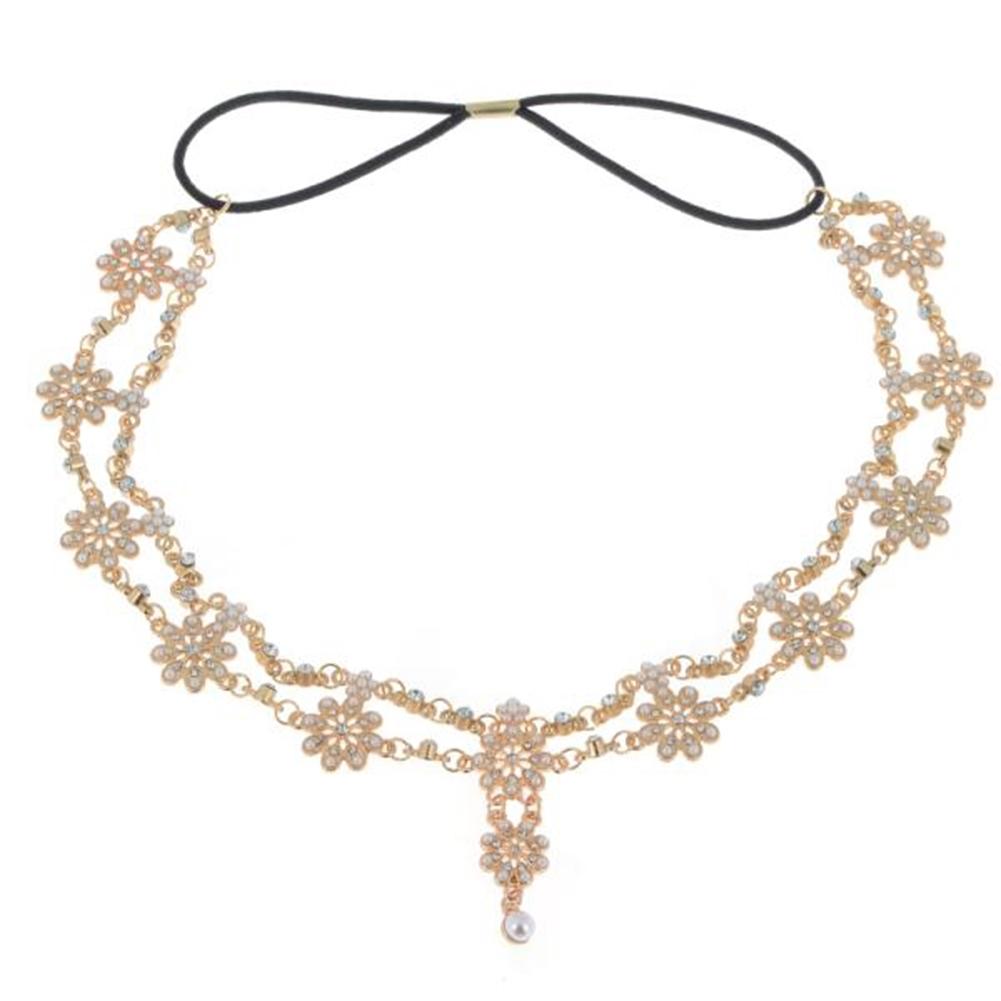 Women Fashion Metal Rhinestone Head Chain Jewelry Headband JH04035 3